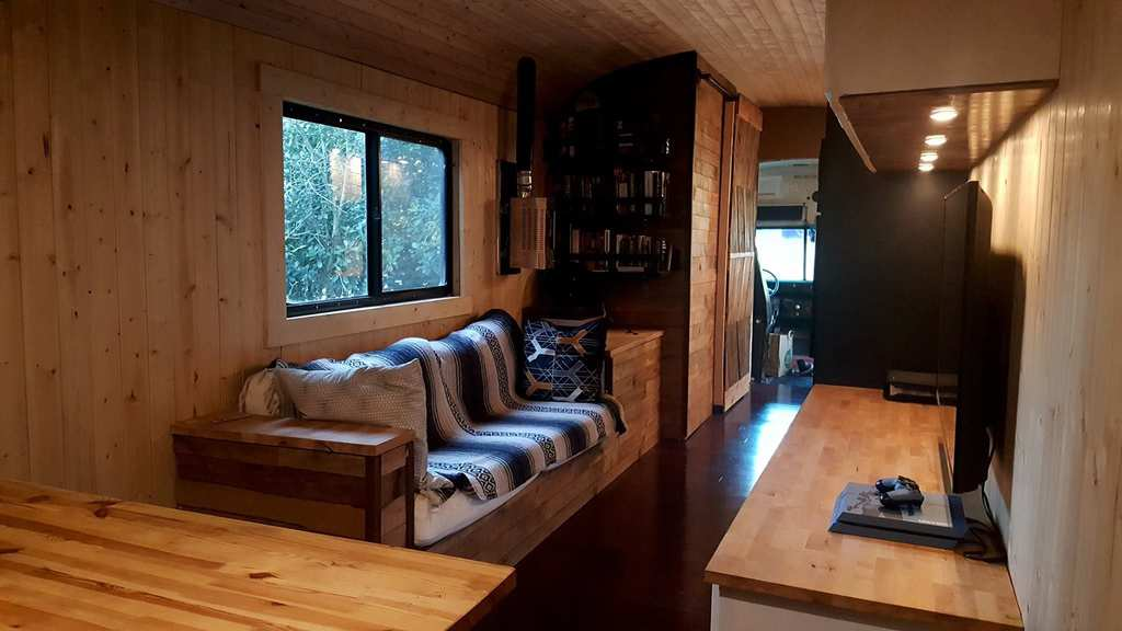 Texas Man Converts Old School Bus Into Tiny Luxury Home