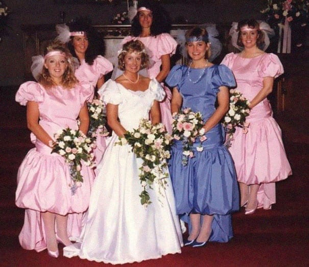 The Most Ridiculous Vintage Bridesmaid Dresses