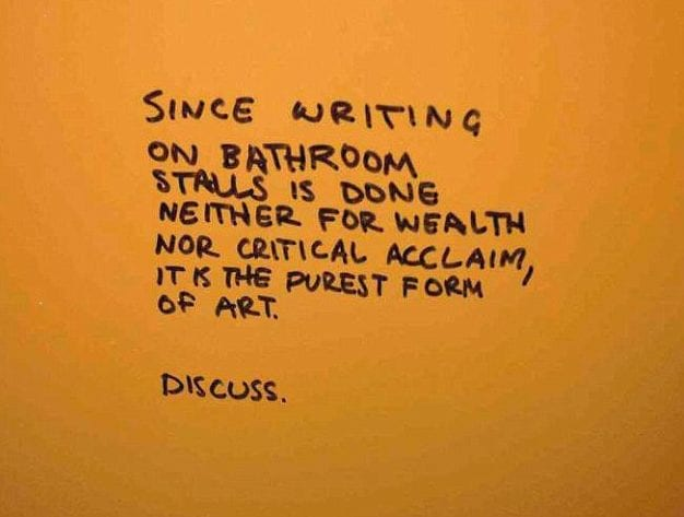 Public Restroom Graffiti That's So Amusing You Won't Be Able