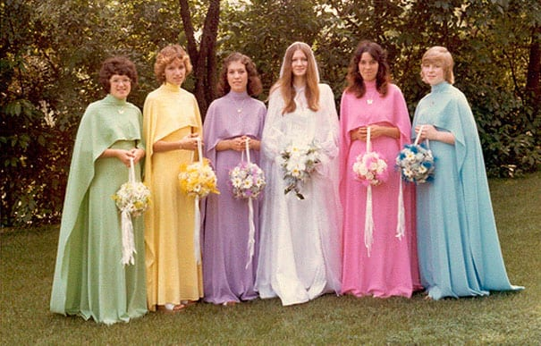 3b184418141 Ridiculous Vintage Bridesmaid Dresses That Didn t Stand The Test Of Time