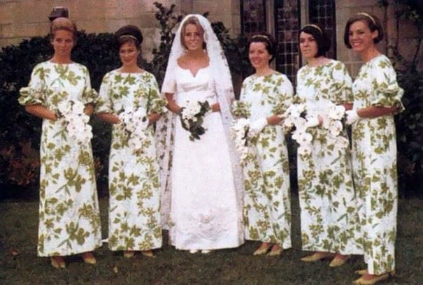 27756386551 ... comes to mind when thinking about bridesmaid dresses. Take a few steps  backward and these ladies could easily camouflage in with the bushes behind  them