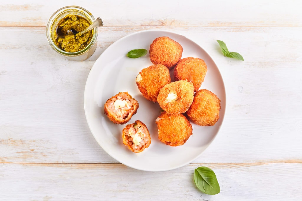 Pesto Arancini Balls