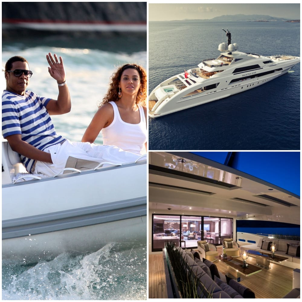 Beyonce and Jay Z cruised around the Mediterranean on $50m
