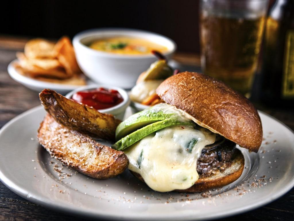 A juicy fajita burger