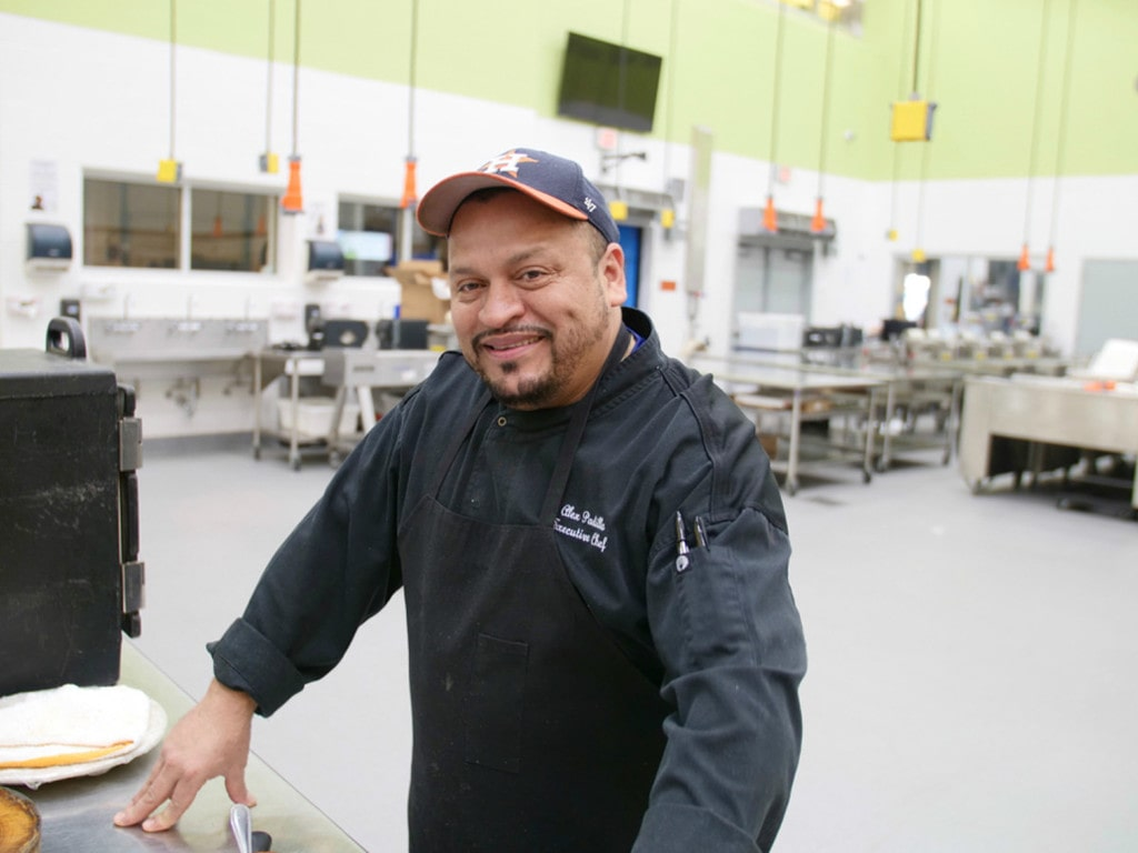 The inventor of the burger, talented Huston chef, Alex Padilla