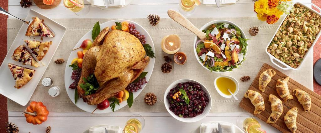 A delicious Thanksgiving dinner arrangement
