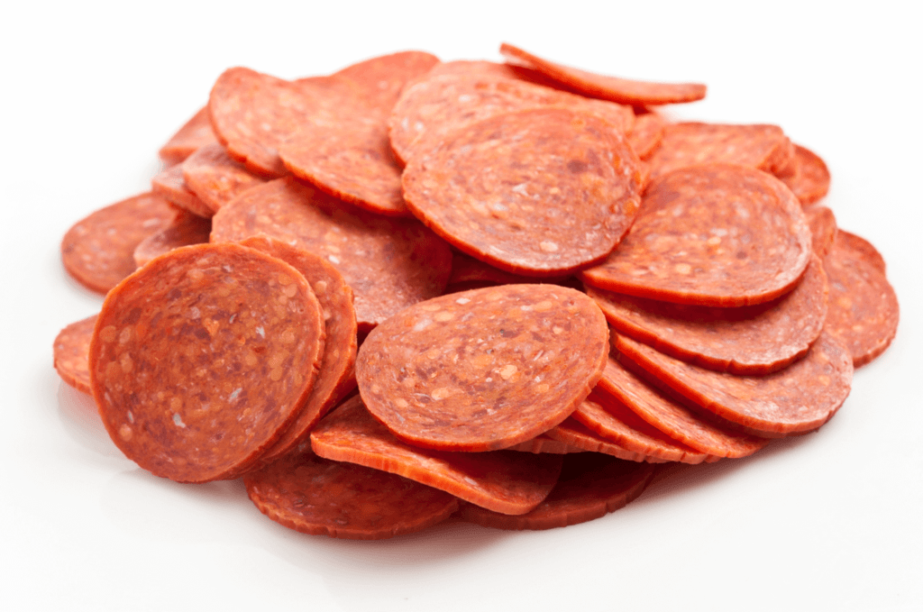 Slices of pepperoni
