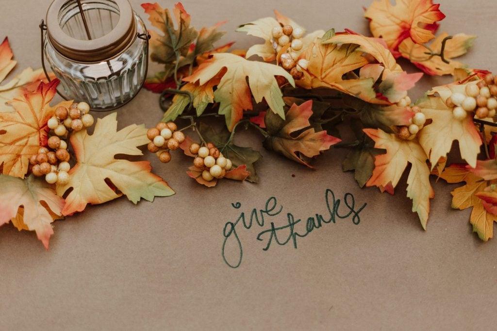 A Thanksgiving fall arrangement