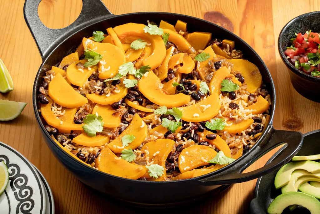 one-pot pumpkin, black beans, and rice recipe