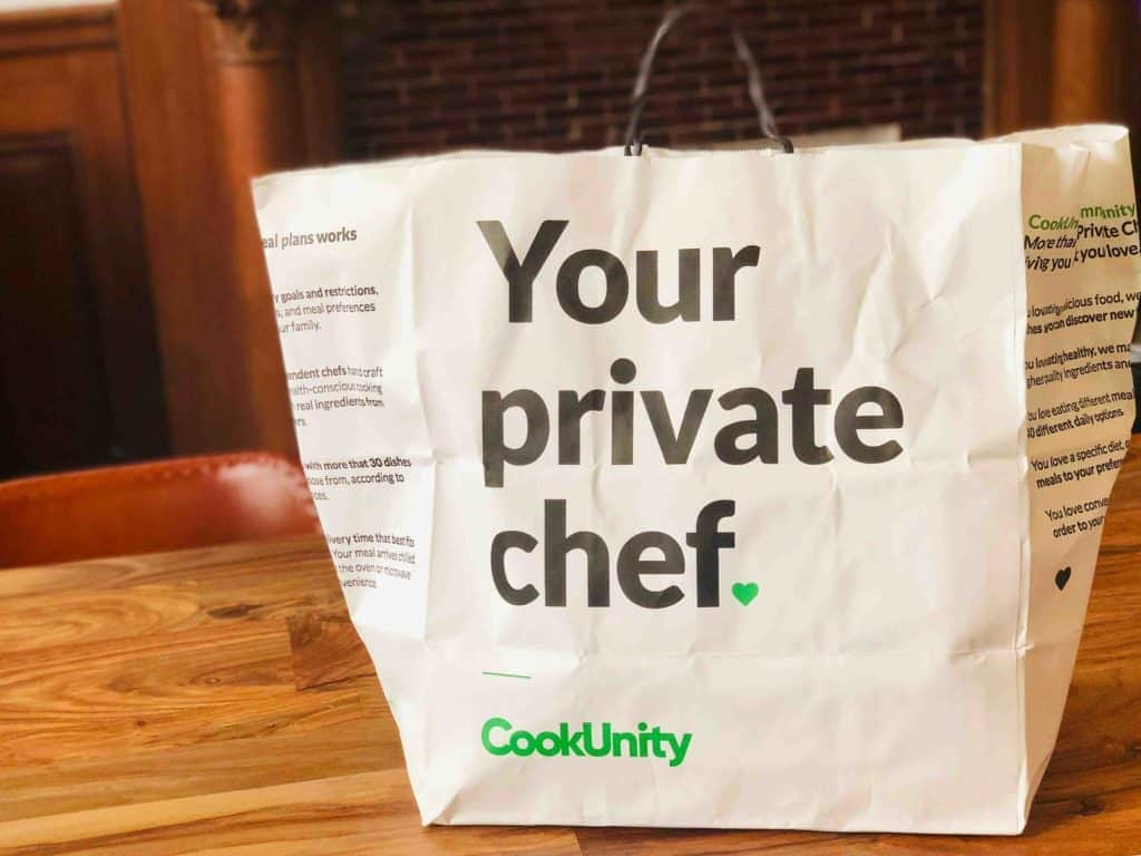 A CookUnity delivery bag