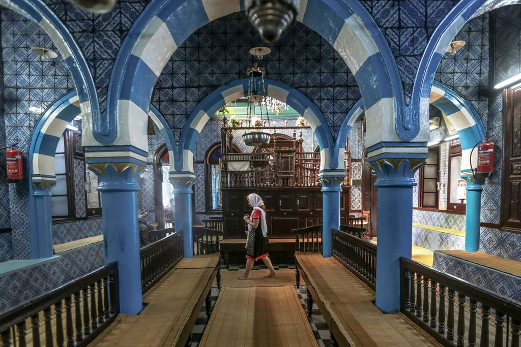 Inside one of the synagogues in the Hara neighborhood