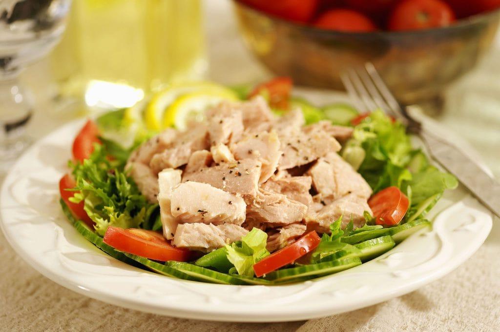 A plate of tuna salad