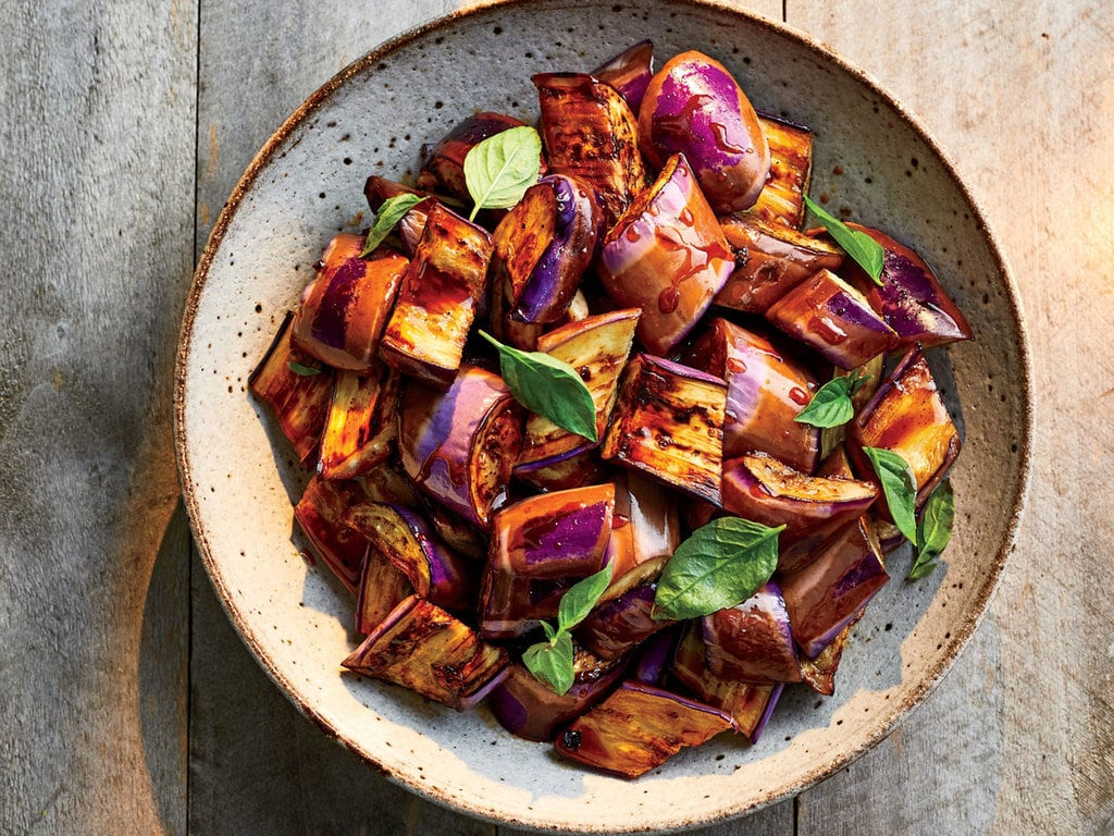 Eggplant adobo by chef Sheldon Simeon