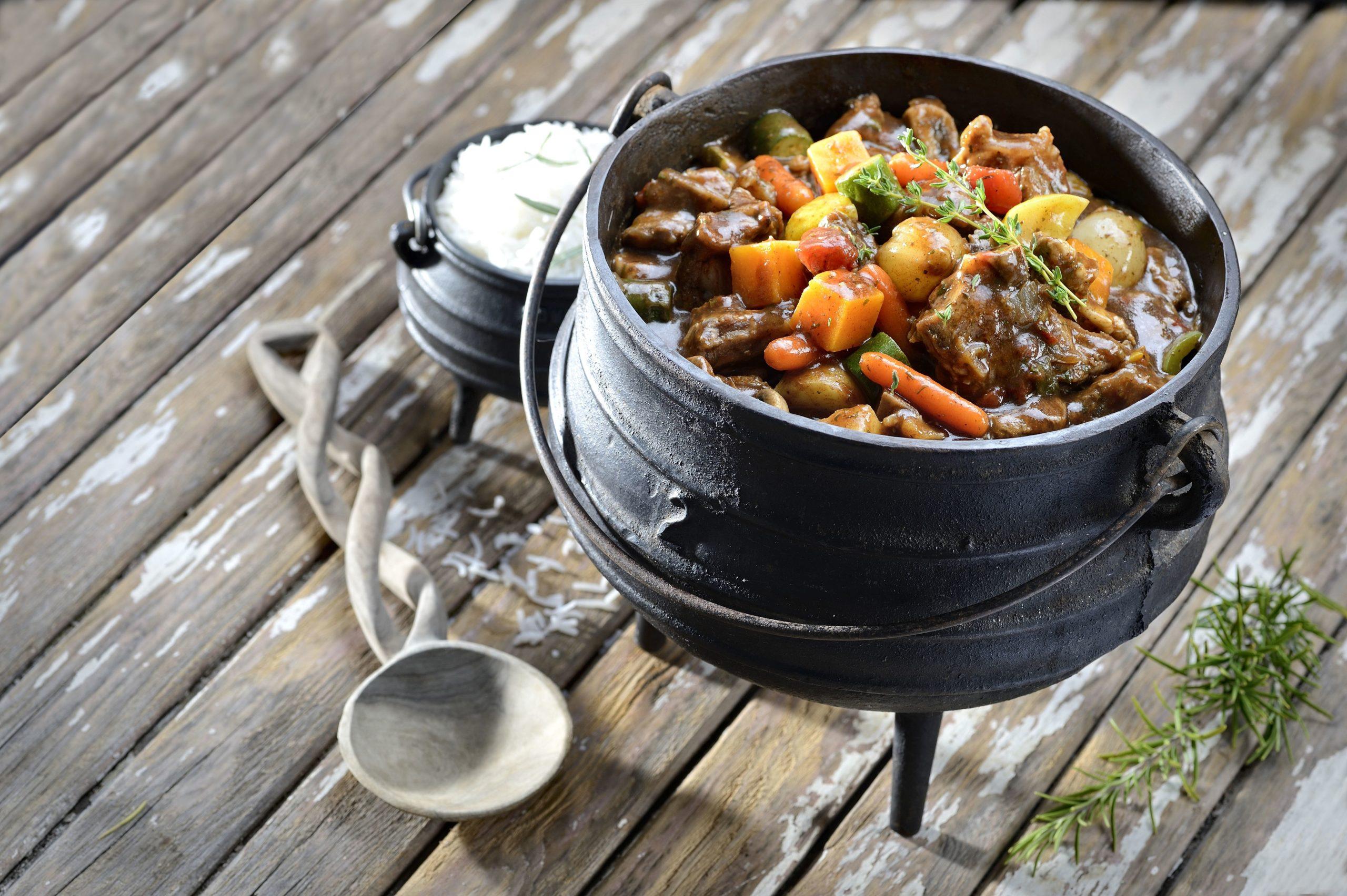 A Pot of Namibia's Traditional Potjiekos